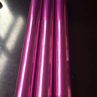 Electroplating purple